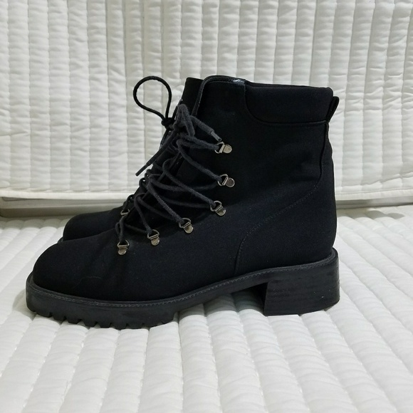 bb83354a35 Stuart Weitzman Lace Up Gore Tex Lug Boots. M 5a5ce7125512fdddaf574fbf